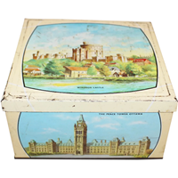 "WB-1255: Early 20th Century Biscuit Tin ""The British Commonwealth"""