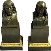 WBR-220z: Pair of Bronze Busts