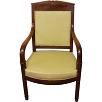 WC-1241: French Empire Fauteuil