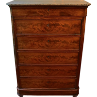 WCH-860: Tall Marble Top Chest of Drawers