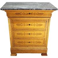 WCH-872z: Mid-19th Century Louis Philippe 4-Drawer Commode