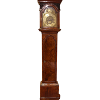 WCK-202z: 18th Century English Walnut Tall Case Clock by John Emer