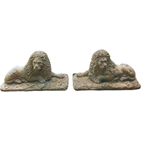 WGD-190: Pair of Edwardian Cast Stone Lions