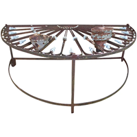 WGD-23: Mid-19th Century French Iron Fan Light Converted Table
