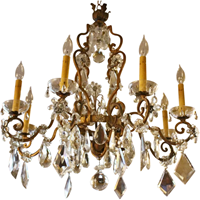 WL-1035: Early 20th Century French Chandelier