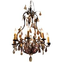 WL-1233: Blacked Scrolled Metal 8-Light Chandelier