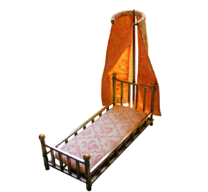 WMI-1653: 19th-20th Century French Miniature Bed
