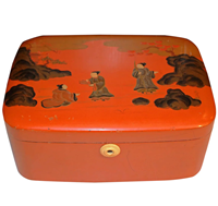 WB-1377z: Late Qing/Republic Era Chinese Orange Lacquer Box
