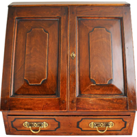 WB-1399z: Early 19th Century Continental Satinwood Stationary Cabinet Writing Box