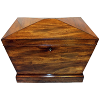 WB-1400z: c. 1825 English George IV Mahogany Wine Cooler