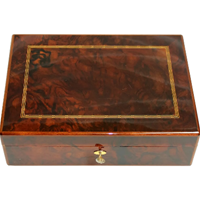 WB-1402z: Late 20th Century Solid Mahogany Dunhill Humidor Cigar Box
