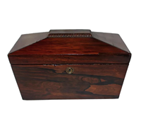WB-1409z: Early - Mid 19th Century English Tea Caddy in Sarcophagus Form