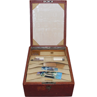 WB-987: Edwardian English Red Leather Travel Case