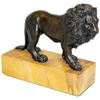WBR-225z: Late 19th Century Italian Grand Tour Bronze Lion Desk Sculpture (SOLD)