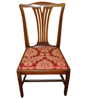 WC-1089: Late 18th Century George III Mahogany Side Chair