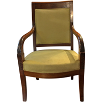 Wc-1240: Mahogany French Fauteuil