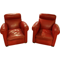 WC-1243: Pair of Art Deco Club Chairs