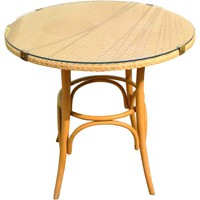 WC-1244g: Mid-20th Century Round Side Table by Lloyd Loom