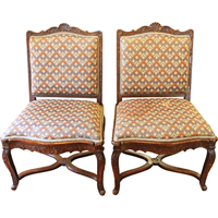 WC-1255z: Pair of French Side Chairs