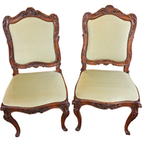 WC-1259z: Pair of French Rococo Side Chairs