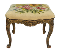 WC-1267z: Mid 19th Century French Rococo Carved Catouche Bench