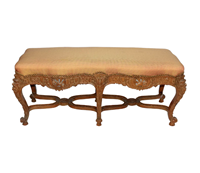 WC-1269z: Renaissance Revival Oak Carved Bench