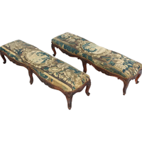 WC-1275z: 18th Century Louis XV Period Oak Prayer Benches - A Pair