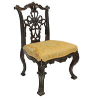 WC-1283z: Early 20th Century George III Style Side Chair (SOLD)