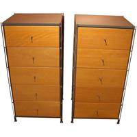 WCH-829: Pair of Narrow 5-Drawer Chests, c. 1970