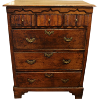 WCH-870z: English Oak Chest of Drawers