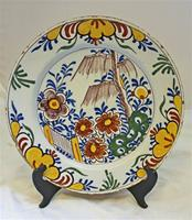 WCI-7581: Delft Polychrome Charger, late 18th Cent.