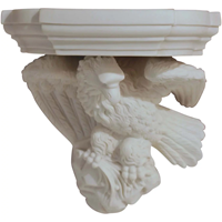 WCI-7589z: Mid-19th Century Parian Eagle Wall Bracket