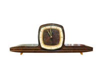 WCK-201z: Mid Century Modern Mauthe German Mantle Clock