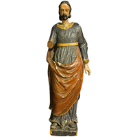 WCO-2465z: 18th Century Wood Sculpture of Saint