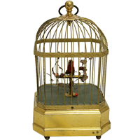 WCO-3313z: Singing Bird in Cage, Vintage