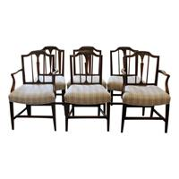 WDC-535: Set of 6 George III Dining Chairs