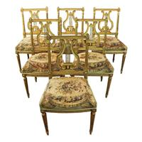 WDC-542z: Carved & Gilded Ballroom Chairs- Set of 6