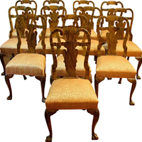 WDC-550z: Set of 12 Queen Anne Dining Chairs (SOLD)
