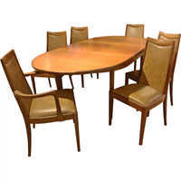 WDT-439: Mid-Century Modern Dining Table and Chairs