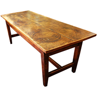 WDT-447z: 19th Century Country English Farmhouse Dining Table (SOLD)