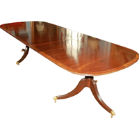 WDT-451z: English Mahogany Double Pedestal Banquet Table (SOLD)