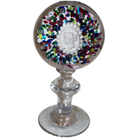 WG-1952z: Mid 19th Century French Glass Paperweight of Empress Eugenie