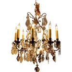 WL-1182: French Bronze & Crystal Chandelier