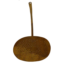 WMI-3213: Mid 19th Century English Brass Large Strainer