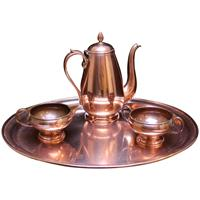 WMI-3235z: C. 1920 French Copper Tea Set
