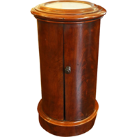 WOF-2445z: Marble Top Cylinder Commode