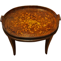 WOT-2321: Dutch Marquetry Serving Tray, c. 1780