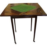 WOT-2345z: English Mahogany Envelope Games Table