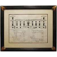 "WP-1819z: 17th Century First Edition Print ""Wilton House"" by Inigo Jones"