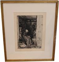 "WP-2030z: ""La Vieille aux Loques"", James Abbot McNeill Whistler Etching"